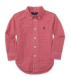 Polo Ralph Lauren® Boys' 2T-7 Long Sleeve Checked Button Down Shirt