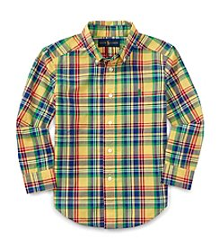 Polo Ralph Lauren® Boys' 2T-7 Long Sleeve Plaid Button Down Shirt