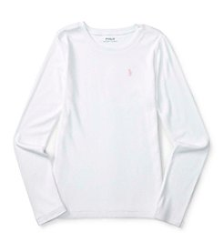 Polo Ralph Lauren® Girls' 7-16 Long Sleeve Modal Tee
