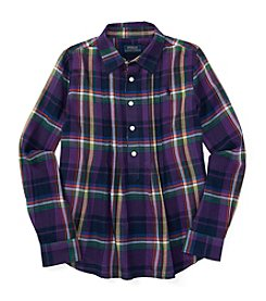 Polo Ralph Lauren® Girls' 7-16 Long Sleeve Plaid Top