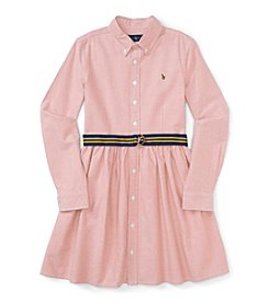 Polo Ralph Lauren® Girls' 7-16 Long Sleeve Oxford Dress