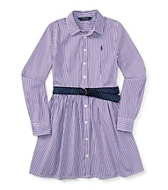 Polo Ralph Lauren® Girls' 7-16 Long Sleeve Shirt Dress