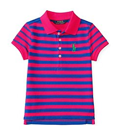Polo Ralph Lauren® Girls' 2T-6X Short Sleeve Striped Polo
