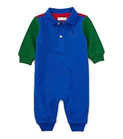 Ralph Lauren® Baby Boys Colorblock Polo Coverall