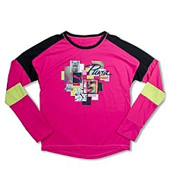PUMA® Girls' 7-16 Long Sleeve Shine Bright Pieces Tee