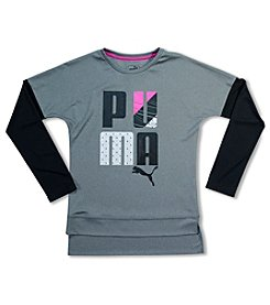 PUMA® Girls' 7-16 Long Sleeve Skater Tee