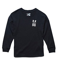 Under Armour® Girls' 7-16 Long Sleeve Varsity Crew Tee