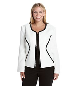 Nine West® Plus Size Jacquard Flyaway Jacket