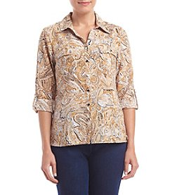 Notations® Petites' Silky Stretch Woven Top