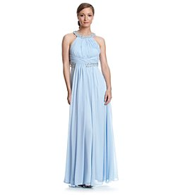 Eliza J® Halter Chiffon Gown Dress
