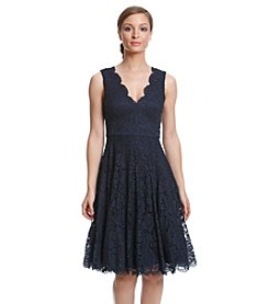 Vera Wang® Lace Fit And Flare Dress