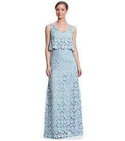 Vera Wang® Lace Popover Long Dress