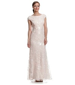 Vera Wang® Lace Overlay Gown Dress