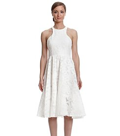 Vera Wang® Tea-Length Lace Dress