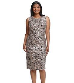 Calvin Klein Plus Size Sequin Cocktail Dress