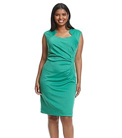 Calvin Klein Plus Size Horseshoe Neckline Scuba Dress