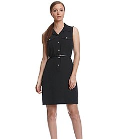 Calvin Klein Collar Fit And Flare Dress