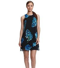 Calvin Klein Halter Floral Chiffon Dress