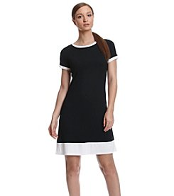 Calvin Klein Contrast Trim Shirt Dress