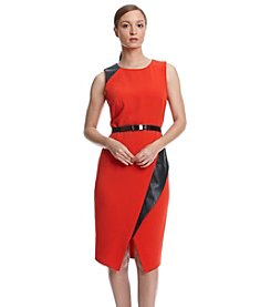 Calvin Klein Color Block Asymmetrical Hem Dress