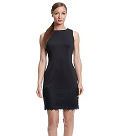 Calvin Klein Lace Hem Scuba Dress