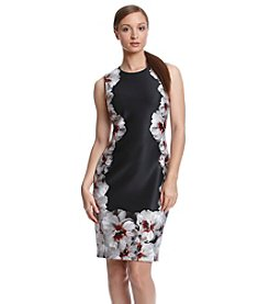 Calvin Klein Floral Border Scuba Dress