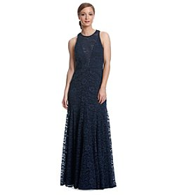 Vera Wang® Long Lace Gown Dress
