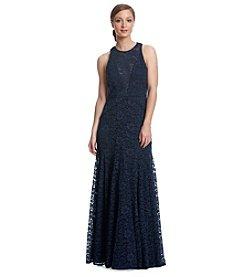 Vera Wang® Long Lace Gown Dress