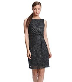 Calvin Klein Metallic Knit Short Dress