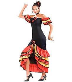 Women's Flamenco Dancer Adult Costume