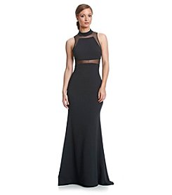 Vera Wang® Highneck Jersey Long Gown