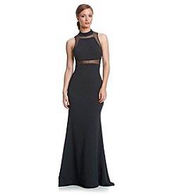 Vera Wang® Highneck Jersey Long Gown