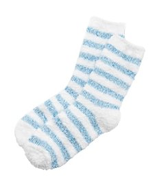 KN Karen Neuburger Striped Fuzzy Socks