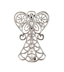 Studio Works® Silvertone Open Filigree Angel Pin