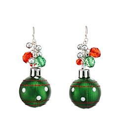 Studio Works® Silvertone Shaky Ornament Drop Earrings
