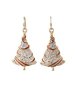 Studio Works® Goldtone Swirl Tree Drop Earrings