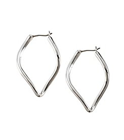 Napier® Silvertone Large Hoop Earrings