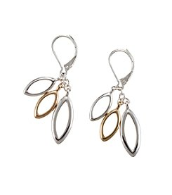Napier® Two Tone Cluster Drop Leverback Earrings