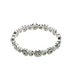 Napier® Silvertone Chrysolite Stretch Bracelet