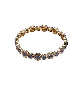 Napier® Goldtone Tanzanite Stretch Bracelet