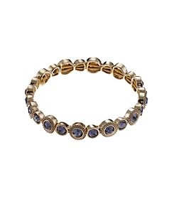 Napier® Goldtone Tanzanite Stretch Bracelet