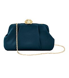 La Regale® Satin Structured Pouch Clutch