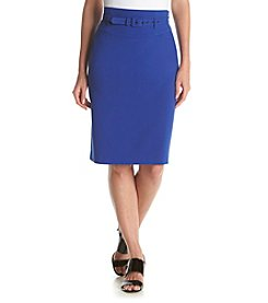 Nine West® Taylor Stretch Belted Skirt