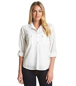 Nine West Jeans® Eyelet Pullover Top