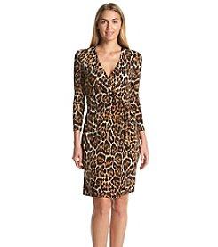 Anne Klein® Printed Classic Wrap Dress
