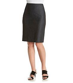 Anne Klein® Denim Skirt