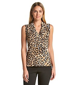 Anne Klein® Triple Pleated Top