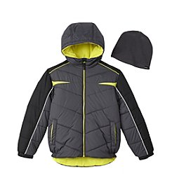 Hawke & Co. Boys' 8-20 Puffer Jacket With Hat