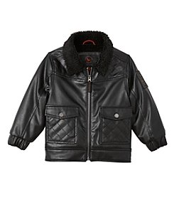 Hawke & Co. Boys' 2T-4T Faux Sherpa Collar Jacket