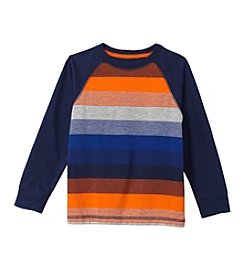 Mix & Match Boys' 2T-7 Long Sleeve Striped Raglan Tee